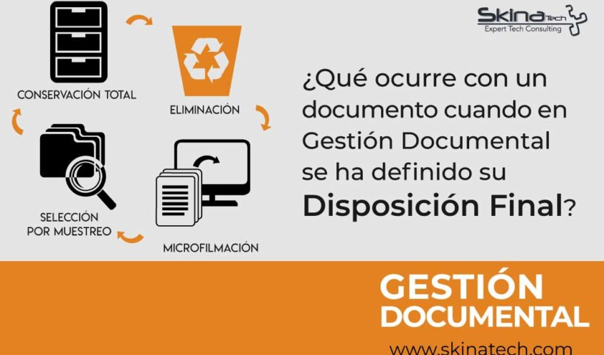 Disposición Final en Gestión Documental